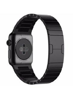 123Watches.nl Apple watch stalen schakel band - schwarz