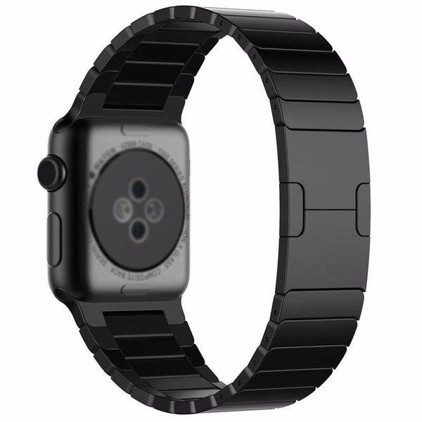 123Watches Apple watch stalen schakel band - zwart