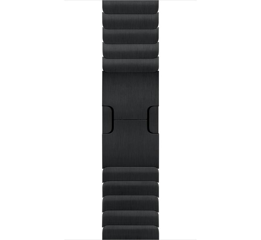 Apple watch stalen schakel band - schwarz