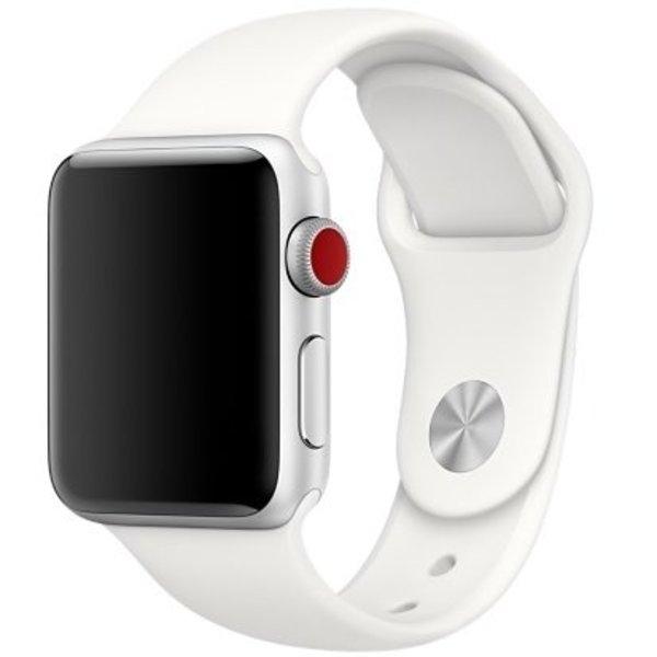 123Watches Apple watch sport band - zacht wit