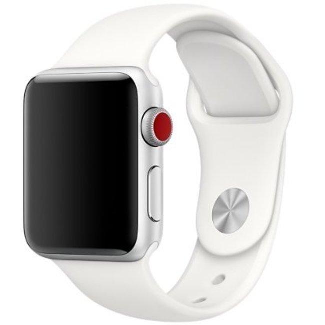 Apple watch sport band - zacht wit
