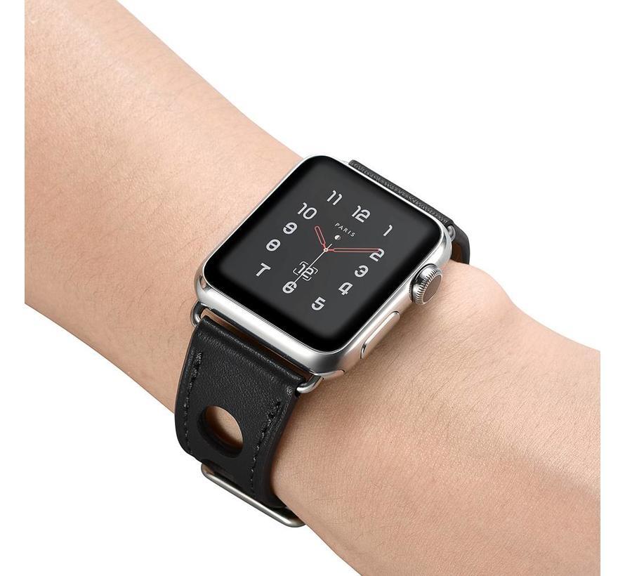 Apple watch leder hermes band - schwarz