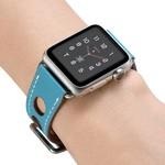 123Watches.nl Apple watch leder hermes band - hellblau