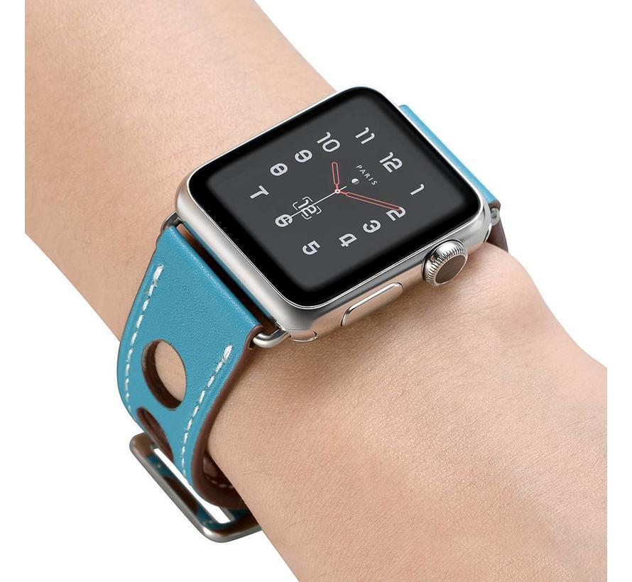Apple watch leder hermes band - hellblau