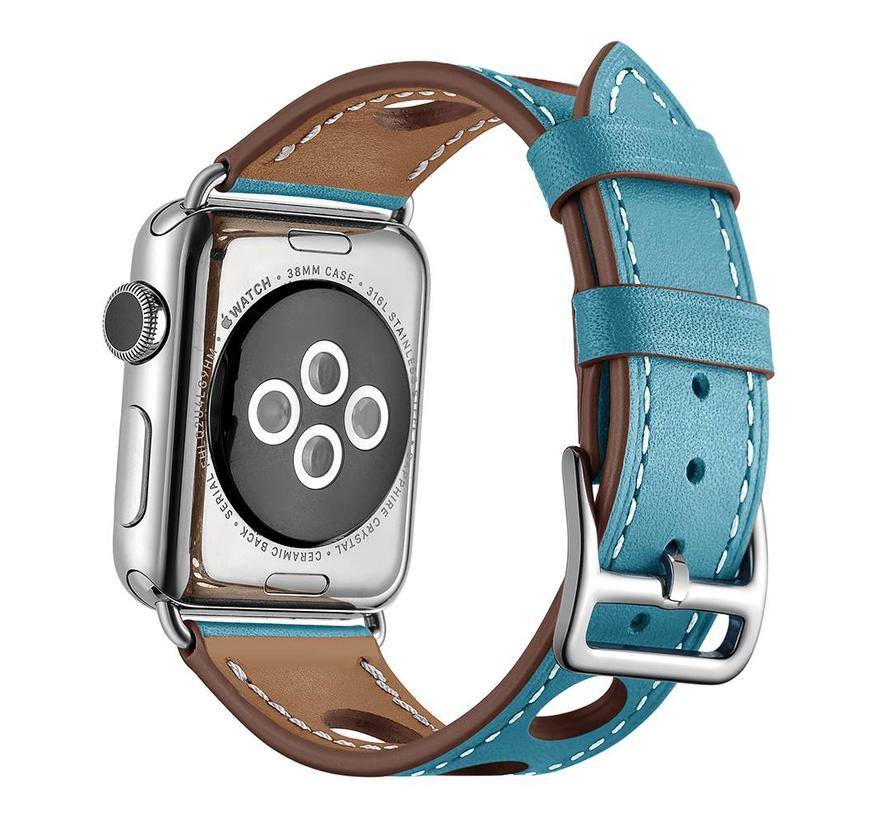 Apple watch leren hermes band - lichtblauw