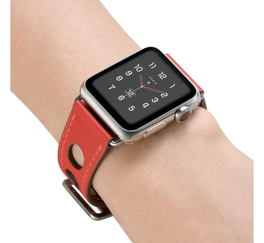 Apple watch leren hermes band - rood