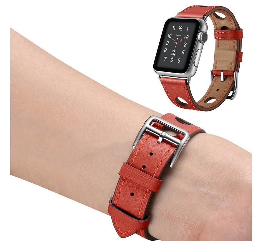 Apple watch leder hermes band - rot
