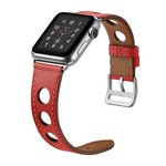 123Watches Apple watch leren hermes band - rood