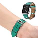 123Watches.nl Apple watch leren hermes band - groen