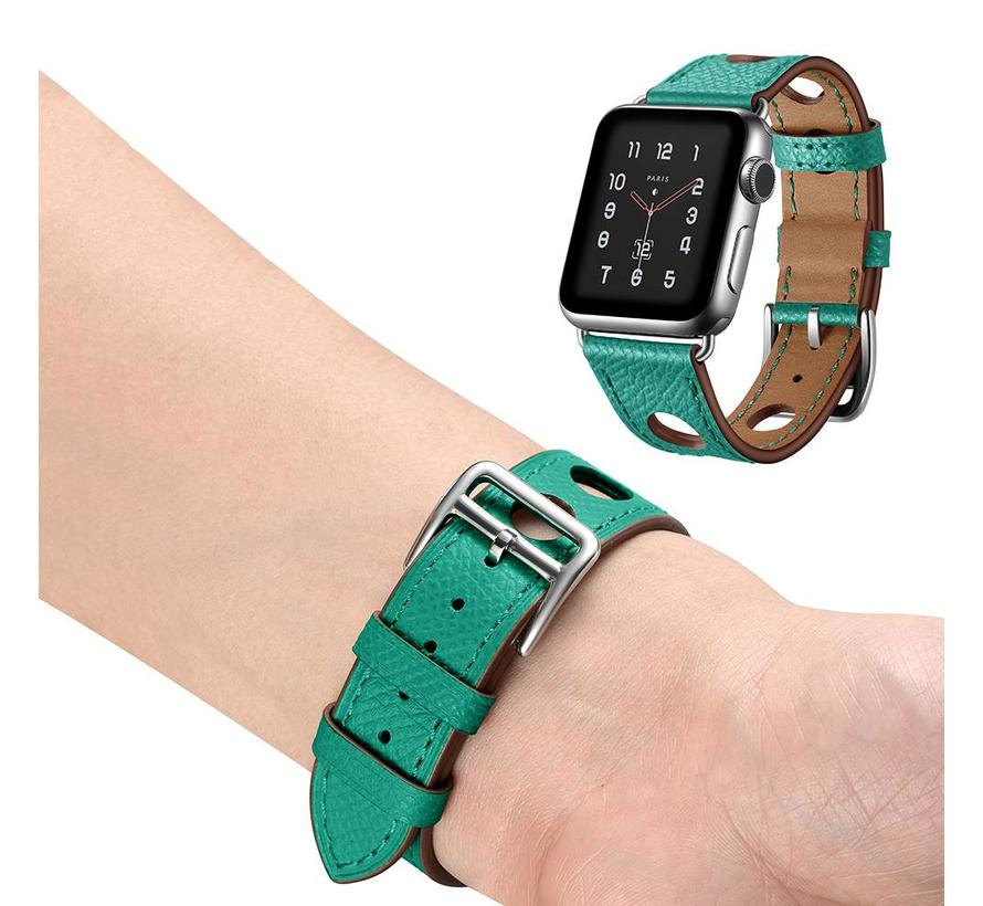 Apple watch leren hermes band - groen