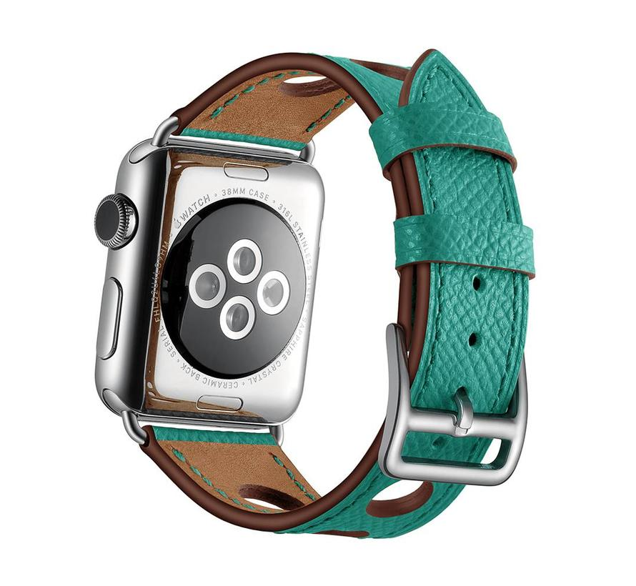 Apple watch leder hermes band - grün