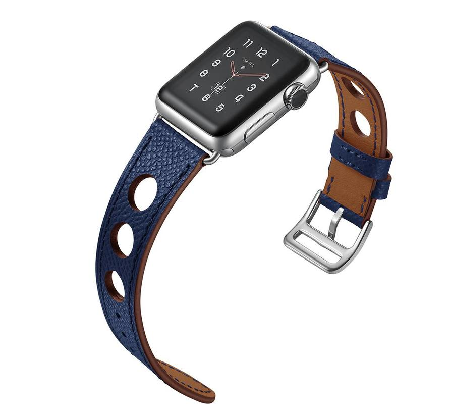 Apple watch leder hermes band - dunkelblau