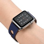 123Watches.nl Apple watch leren hermes band - donkerblauw