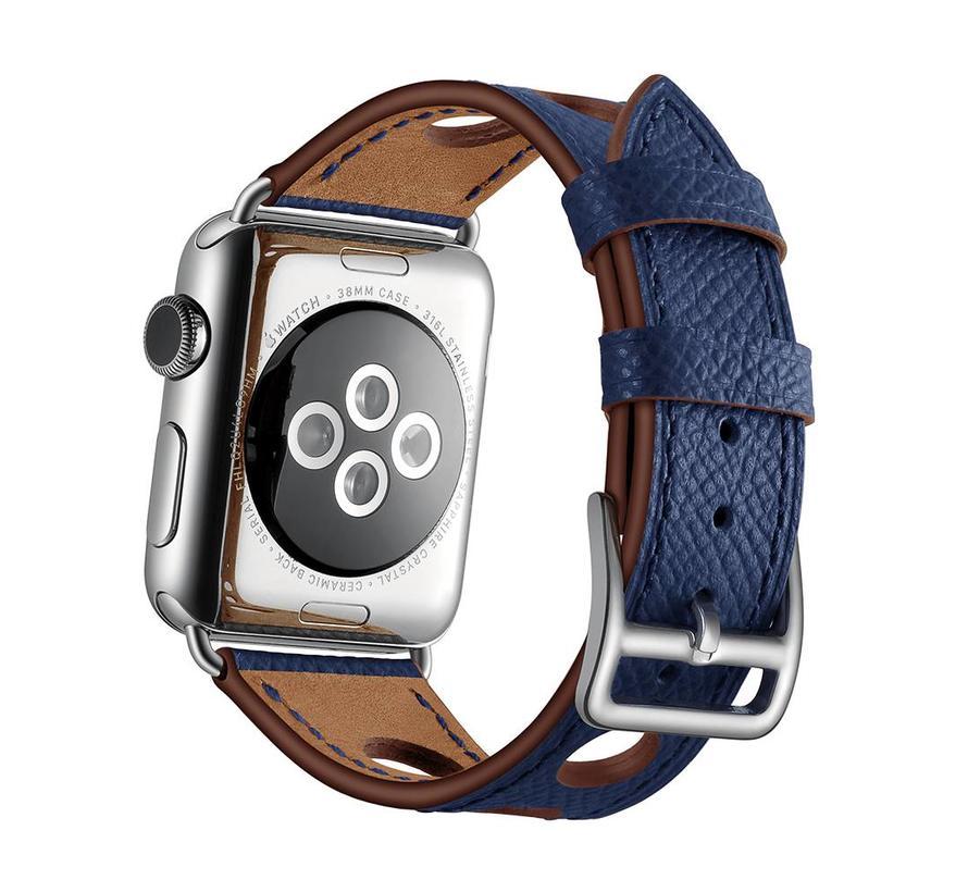 Apple watch leder hermes band - dark blue