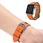 123Watches.nl Apple watch leren hermes band - oranje