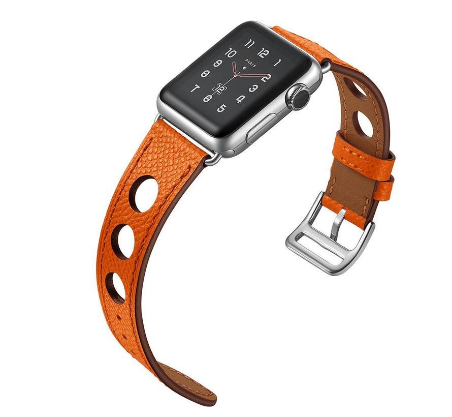 Apple watch leder hermes band - orange