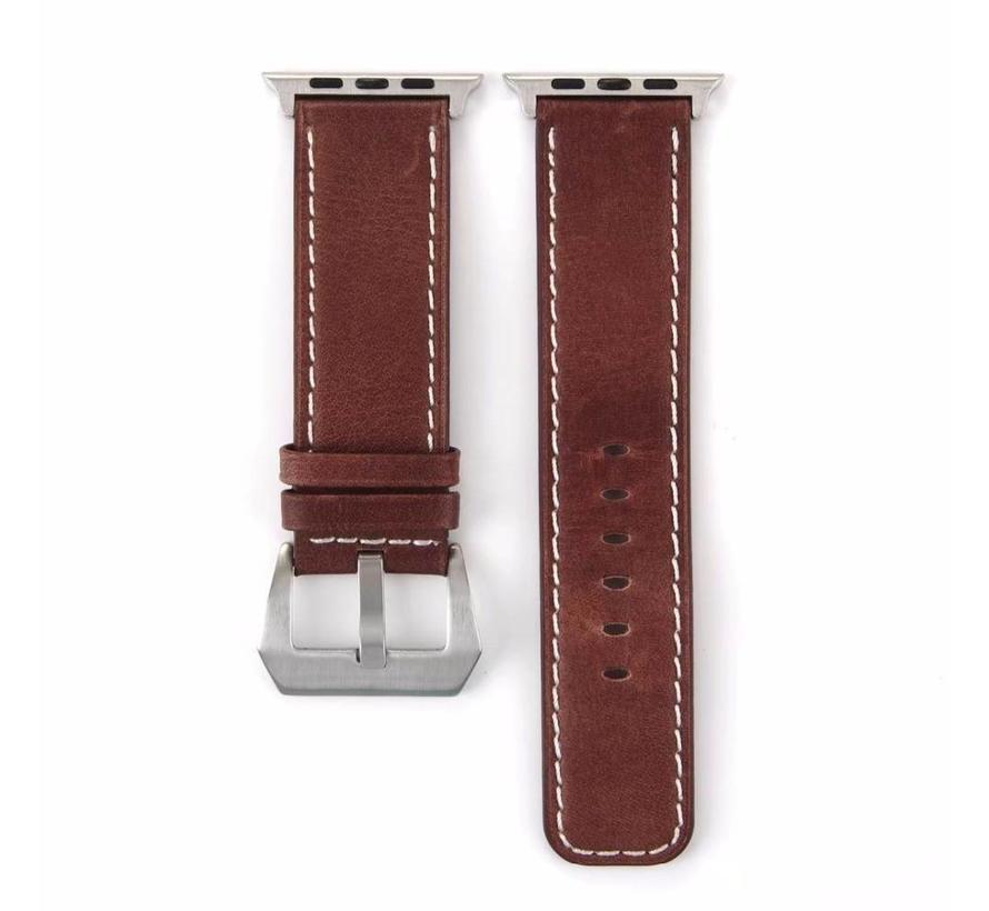 Apple watch leather retro band - brown