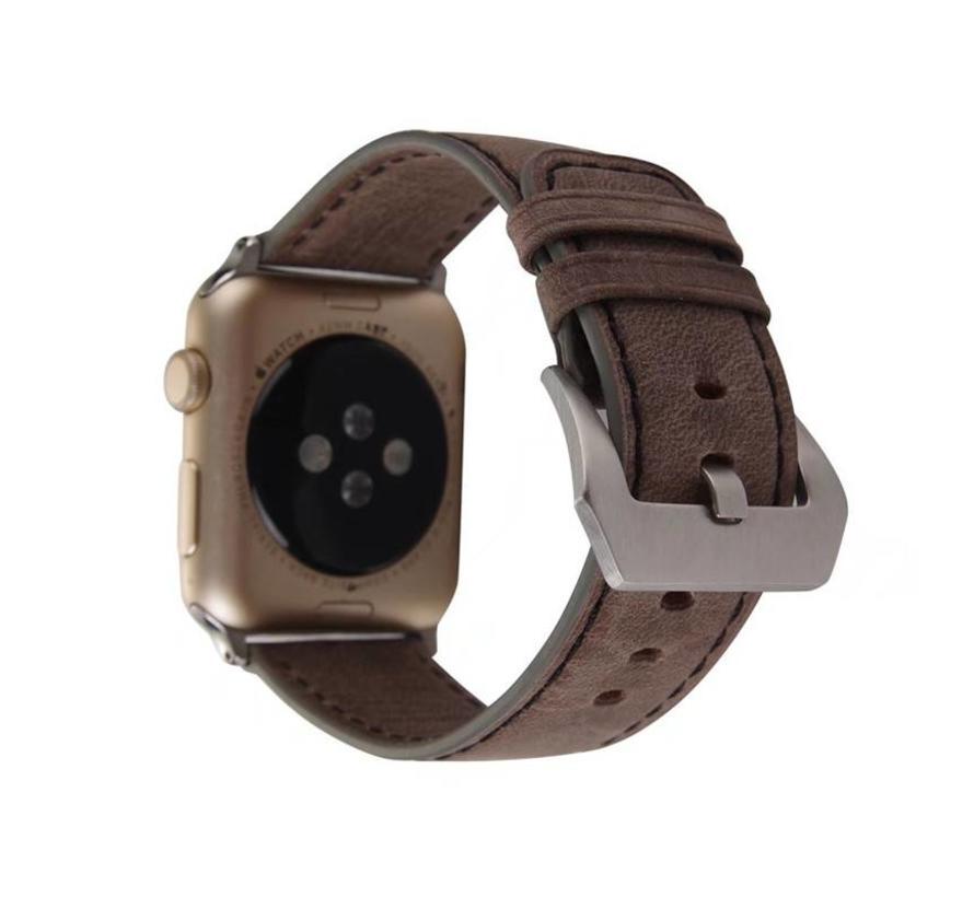 Apple watch leather retro band - dark brown