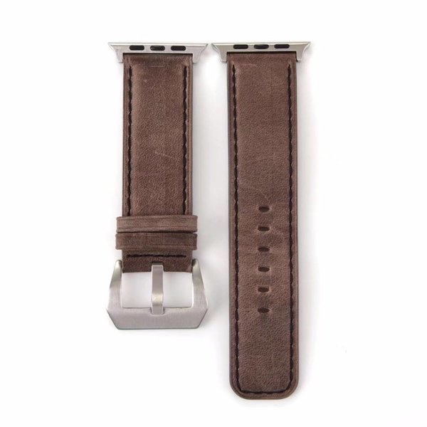 123Watches Apple watch leather retro band - dark brown