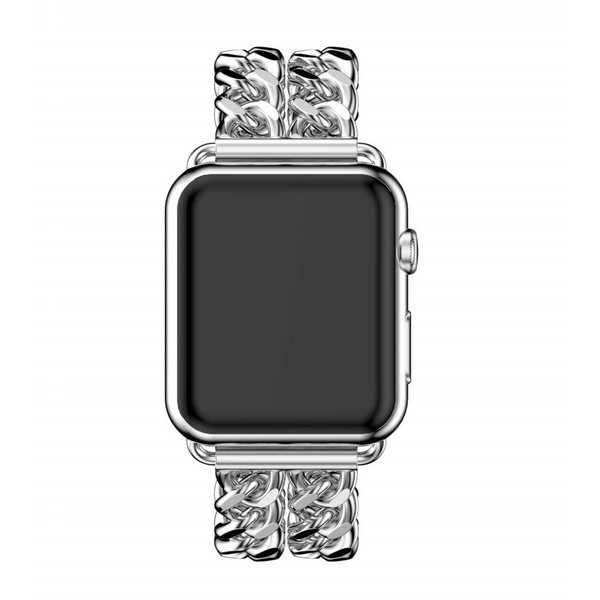123Watches.nl Apple watch stahl cowboy link band - silber