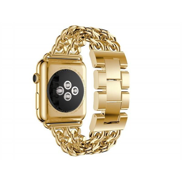 123Watches.nl Apple watch stalen cowboy schakel band - goud