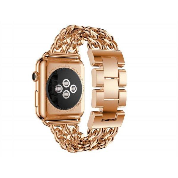 123Watches Apple Watch maillon de cow-boy en acier - or rose