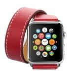 123Watches Apple watch leather long loop band - red