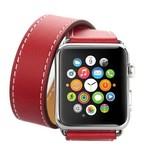 123Watches.nl Apple watch leder lange schleife band - rot