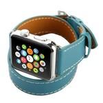 123Watches Apple Watch tapis de course long en cuir - bleu