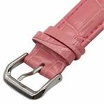 123Watches.nl Apple watch leren krokodillen band - roze