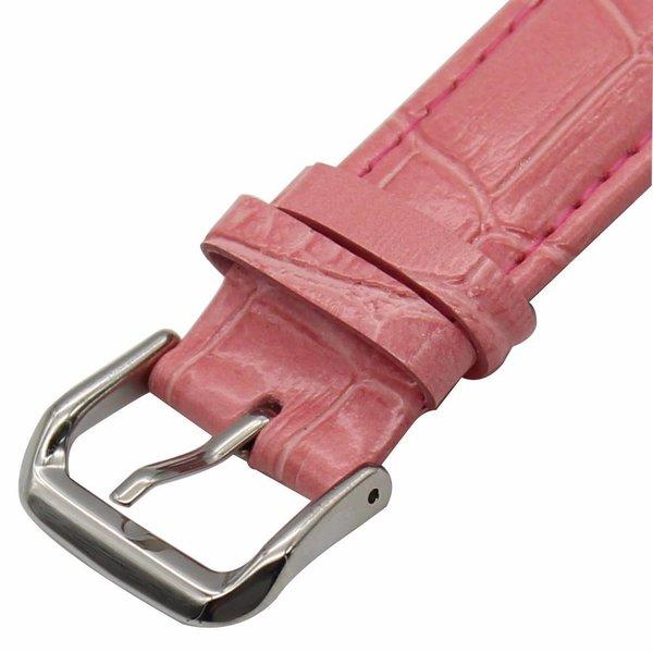 123Watches Apple watch leren krokodillen band - roze