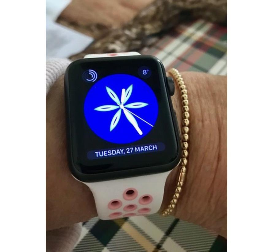 Apple watch sport bandje - wit roze