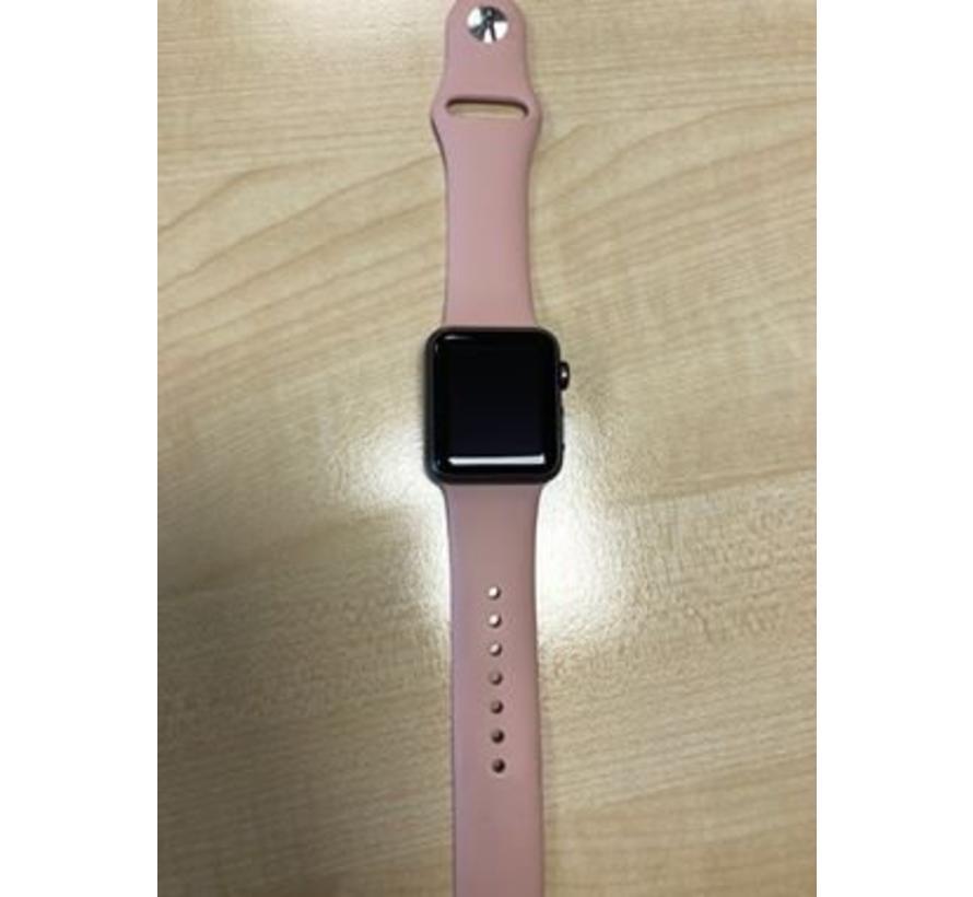 42mm Apple Watch pink san sport bandje