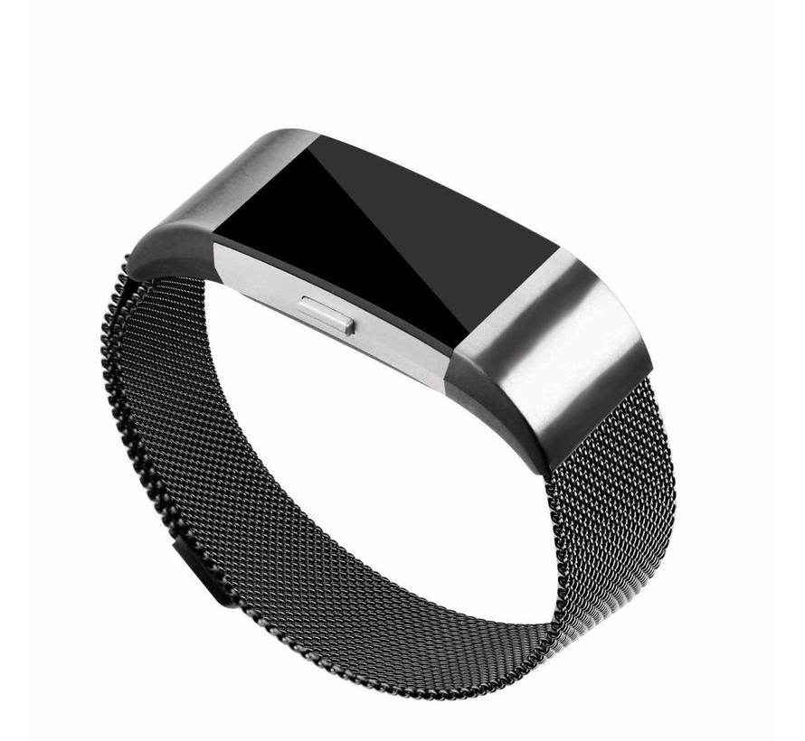 Fitbit charge 2 milanese band - zwart
