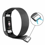 123Watches Fitbit charge 2 milanese band - zwart
