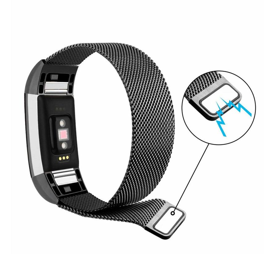 Fitbit charge 2 milanese band - schwarz