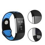 123Watches Fitbit charge 2 sport band - zwart blauw