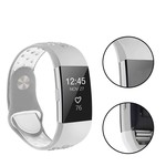 123Watches.nl Fitbit charge 2 sport band - grijs wit