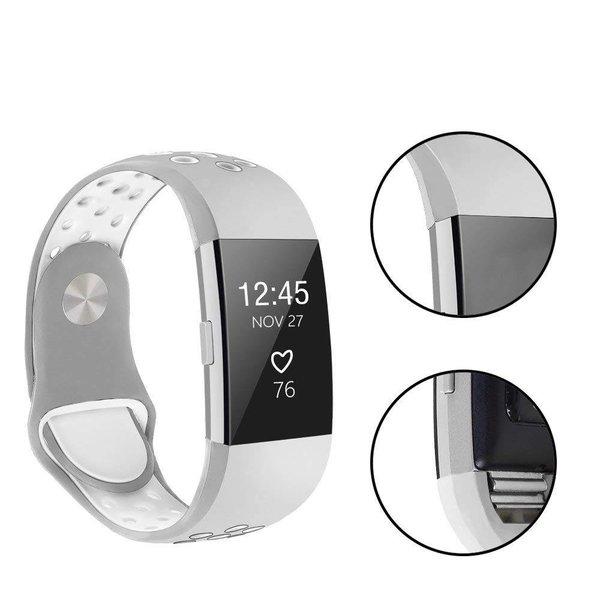 123Watches.nl Fitbit charge 2 bracelet sportif  - gris blanc