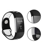 123Watches Fitbit charge 2 sport band - black white