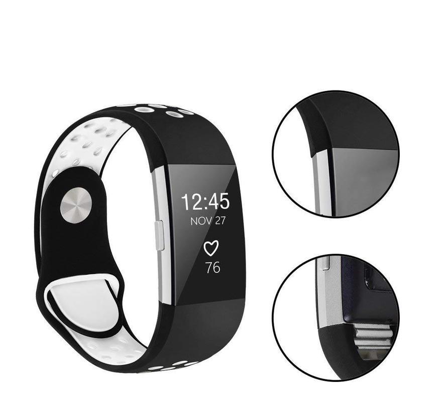Fitbit Charge 2 zwart / wit sport bandje