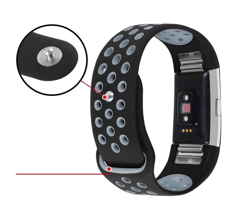 Fitbit charge 2 sport band - zwart grijs