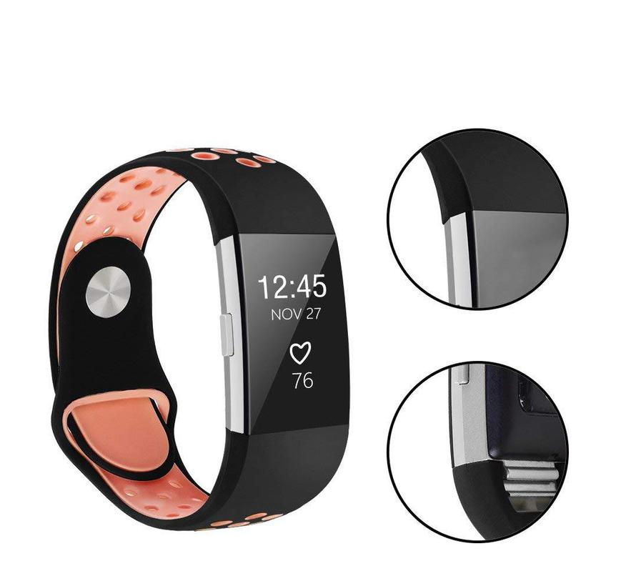 Fitbit charge 2 sport band - zwart roze