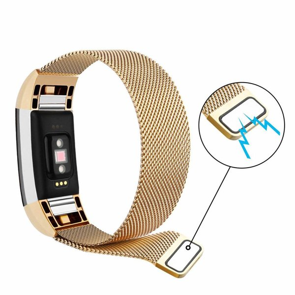 123Watches Fitbit charge 2 milanese band - gold