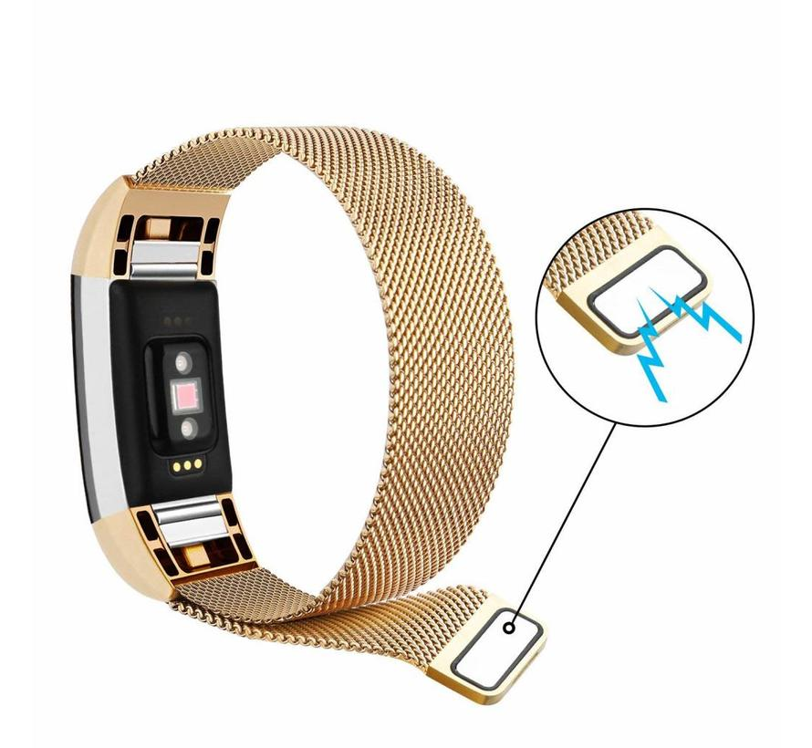 Fitbit Charge 2 goud milanese bandje