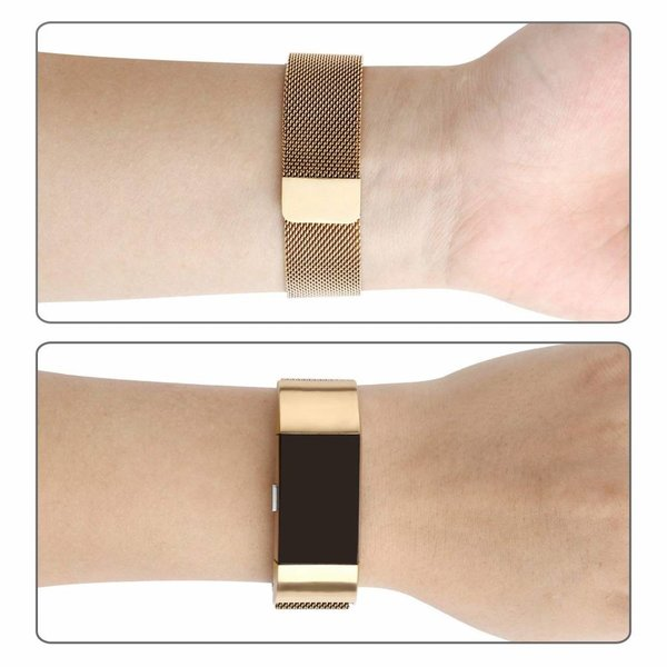 123Watches Fitbit charge 2 milanese band - or