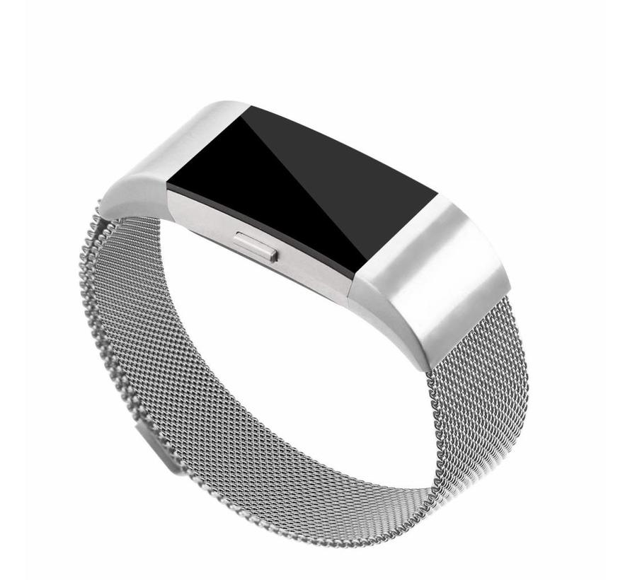 Fitbit charge 2 milanese band - silver