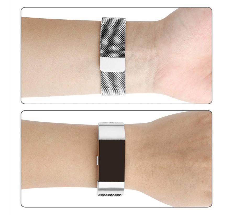 Fitbit charge 2 milanese band - zilver