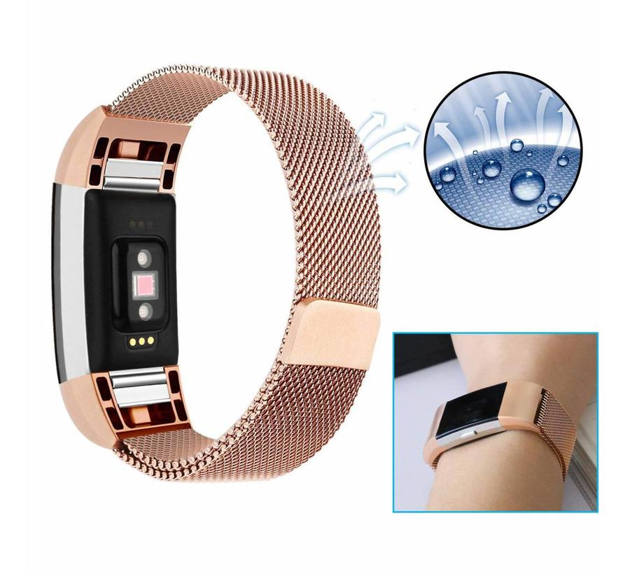 Fitbit charge 2 milanese band - rose goud