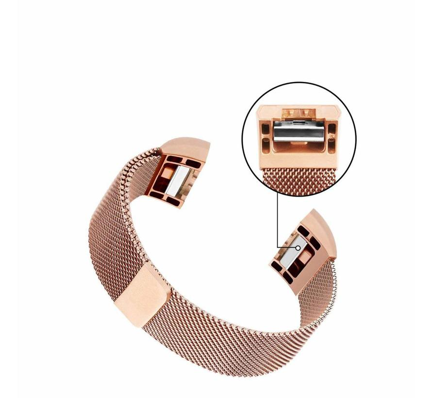 Fitbit Charge 2 rose goud milanese bandje